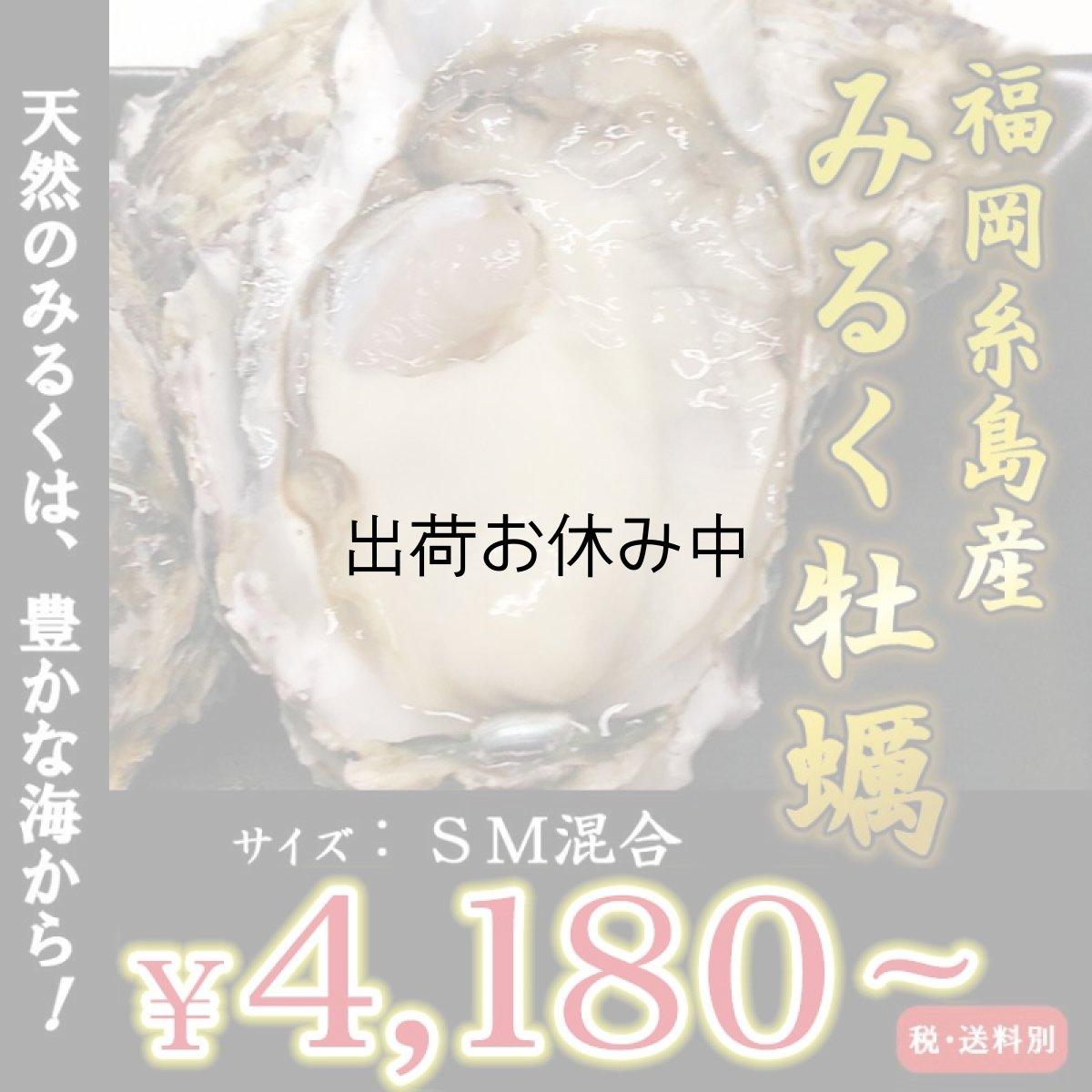 画像1: 【お急ぎ便】福岡糸島産 みるく牡蠣 (お届け地域限定) (1)