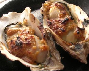牡蠣のゆず味噌田楽
