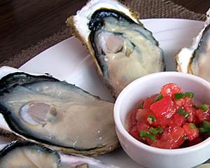 生牡蠣を美味しく!(サルサソース)