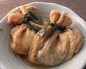 牡蠣のおあげさん煮