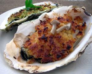 牡蠣のカリカリ焼き(味噌チーズ)