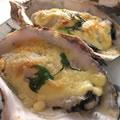 <殻付牡蠣のレシピ>マヨ味噌チーズ焼き