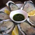 <生牡蠣のソース>牡蠣のバジルソース