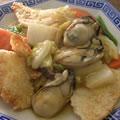 <むきみ牡蠣のレシピ>揚げおこげの牡蠣あんかけ
