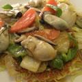 <むきみ牡蠣のレシピ>牡蠣のあんかけ焼きソバ