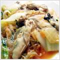 <むきみ牡蠣のレシピ>牡蠣のキムチ春雨