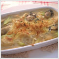 <むきみ牡蠣のレシピ>牡蠣と里芋の豆乳グラタン